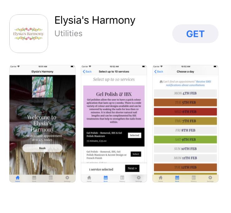 Elysia's Harmony App View