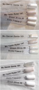 Gelish My Yacht Rules Swatch Comparisons