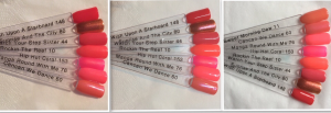 Hip Hot Coral swatch comparisons