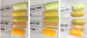 A Tribe Called Cool Swatch Stick Comparisons Indoor, LED, Outdoor