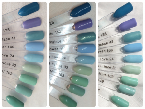 I'm A Wildflower & Mad About Mint Swatch Stick Comparisons Indoor, LED, Outdoor
